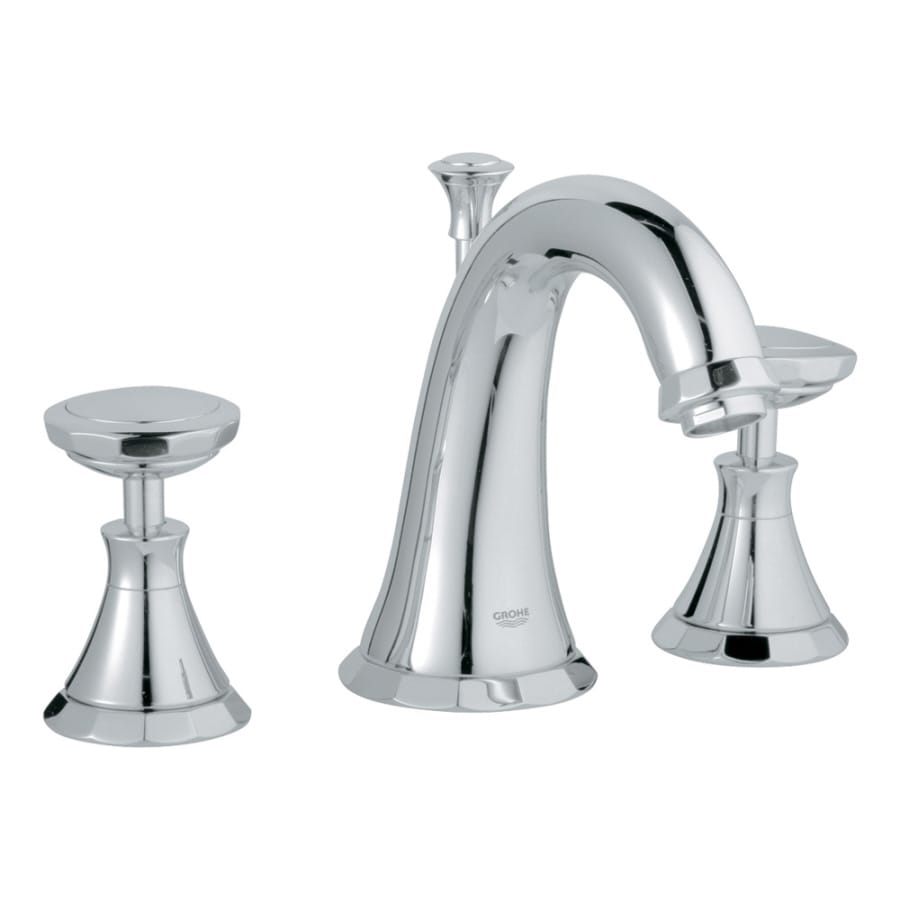 Widespread Bathroom Faucet Chrome : GROHE Kensington Chrome 2-Handle Widespread WaterSense Bathroom Faucet ...