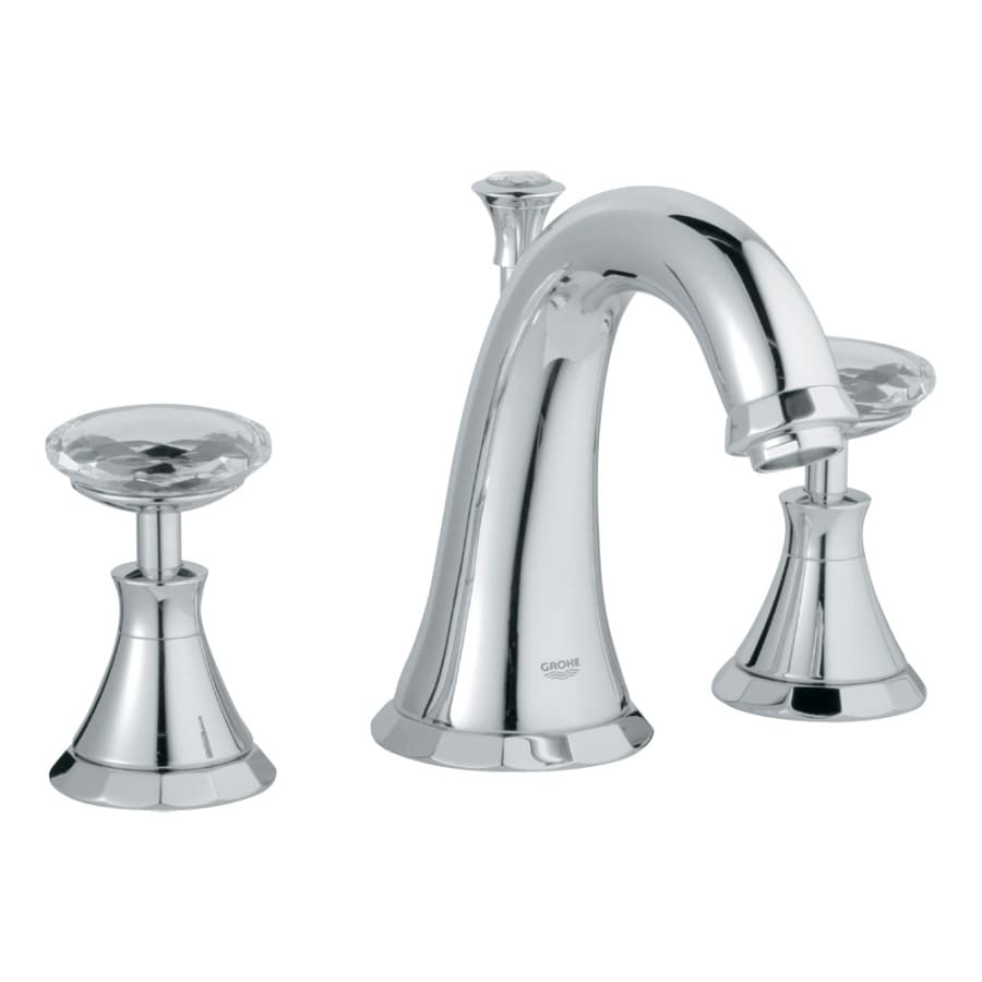 Shop Grohe Kensington Starlight Chrome Swarovski Crystal 2 Handle Widespread Watersense Bathroom