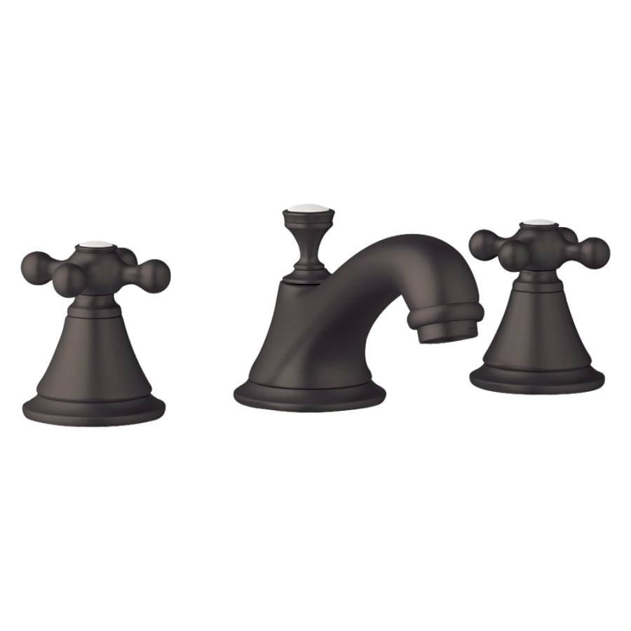GROHE Seabury Oil-Rubbed Bronze 2-Handle Widespread WaterSense Bathroom Faucet (Drain Included)