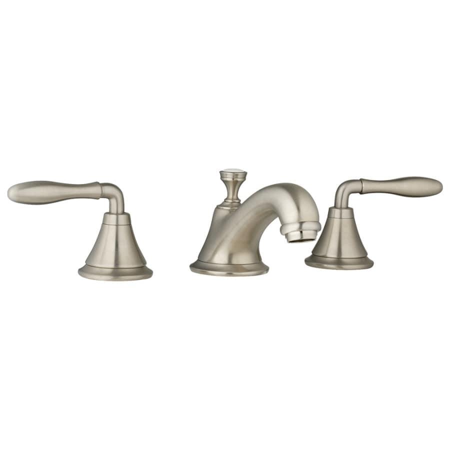 Brass 2 handle widespread watersense bathroom faucet drain included - Shop Grohe Seabury Brushed Nickel 2 Handle Widespread