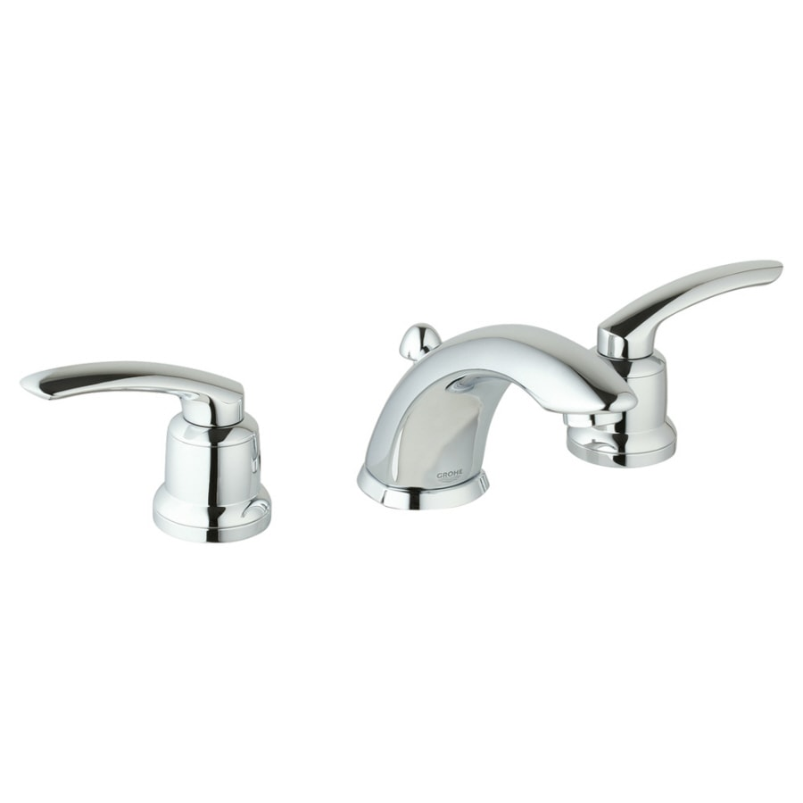 Shop Grohe Talia Chrome 2 Handle Widespread Watersense Bathroom Faucet Drain Included At