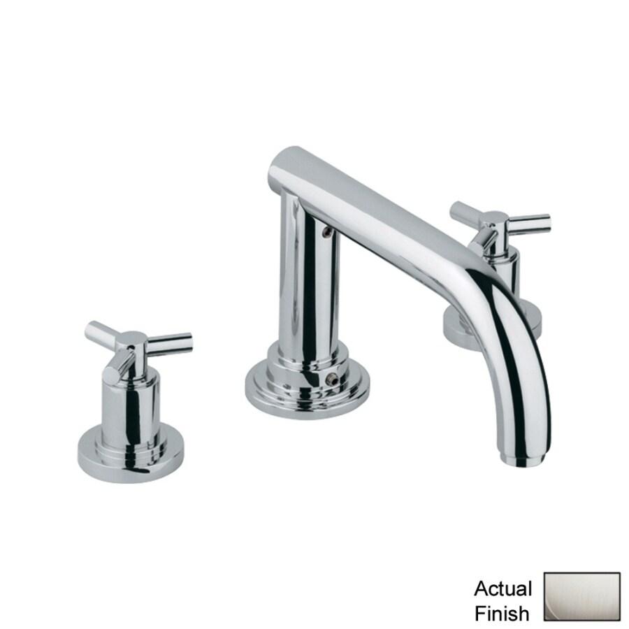 GROHE Atrio Nickel 2-Handle Adjustable Deck Mount Tub Faucet