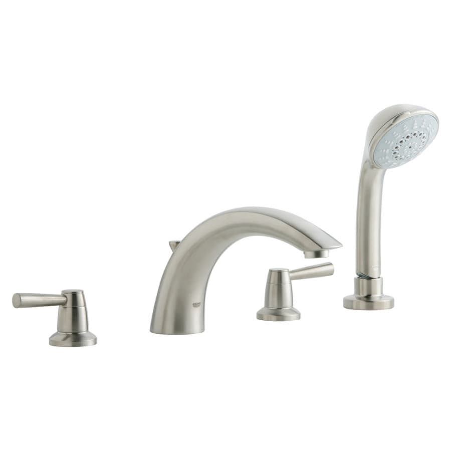 GROHE Arden Nickel 2-Handle Adjustable Deck Mount Tub Faucet
