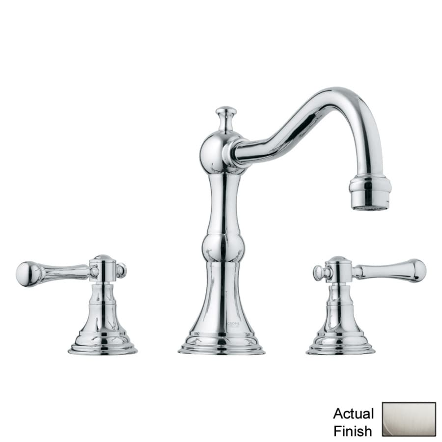 GROHE Bridgeford Brushed Nickel 2-Handle Adjustable Deck Mount Tub Faucet