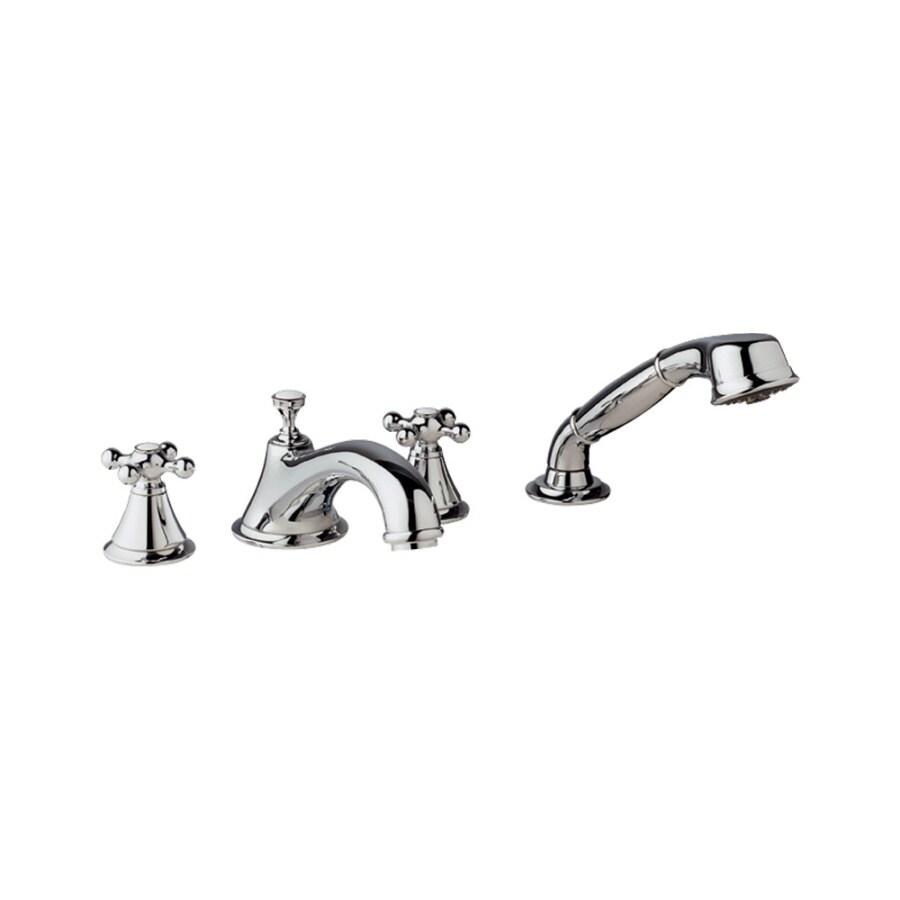 GROHE Seabury Starlight Chrome 2-Handle Adjustable Deck Mount Tub Faucet