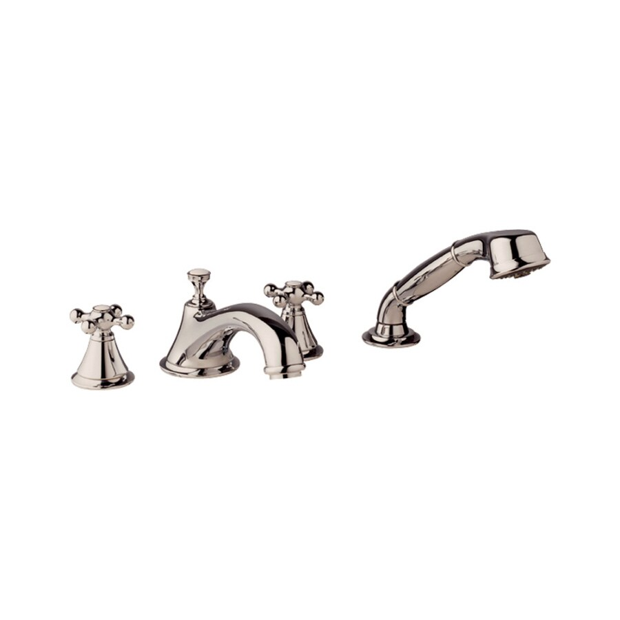 GROHE Seabury Polished Nickel 2-Handle Adjustable Deck Mount Tub Faucet