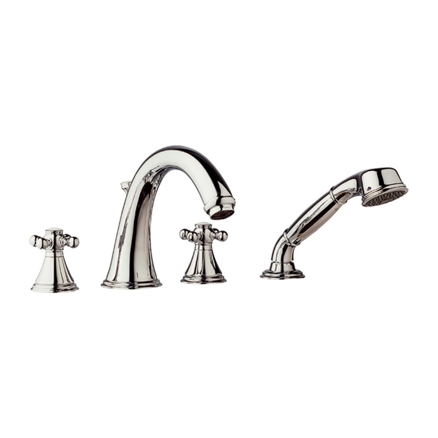GROHE Geneva Polished Nickel 2-Handle Adjustable Deck Mount Bathtub Faucet