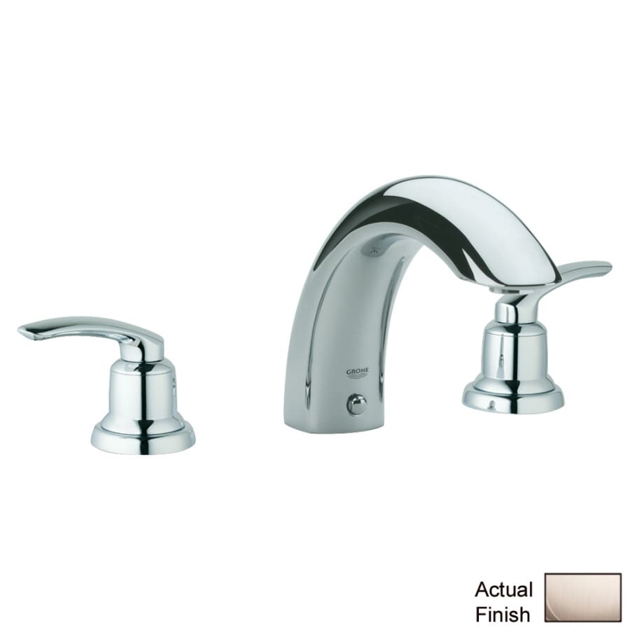 Shop Grohe Talia Nickel 2 Handle Adjustable Deck Mount Tub Faucet At