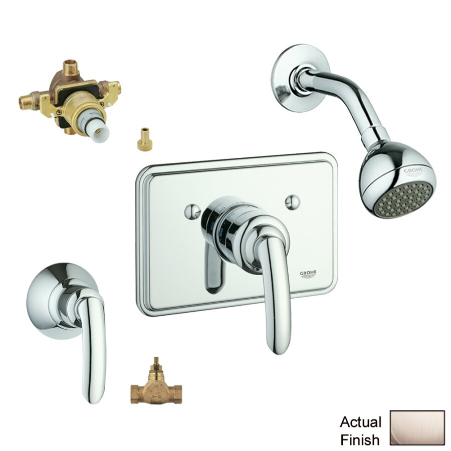 GROHE Talia Brushed Nickel 1-Handle Shower Faucet with Single Function Showerhead