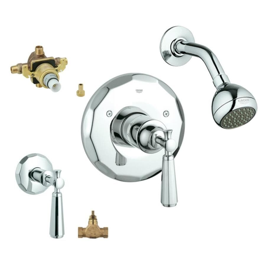 GROHE Kensington Starlight Chrome 1-Handle Shower Faucet with Single Function Showerhead
