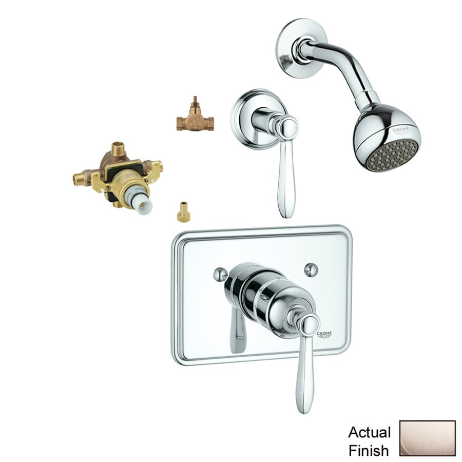 GROHE Somerset Brushed Nickel 1-Handle Shower Faucet with Single Function Showerhead