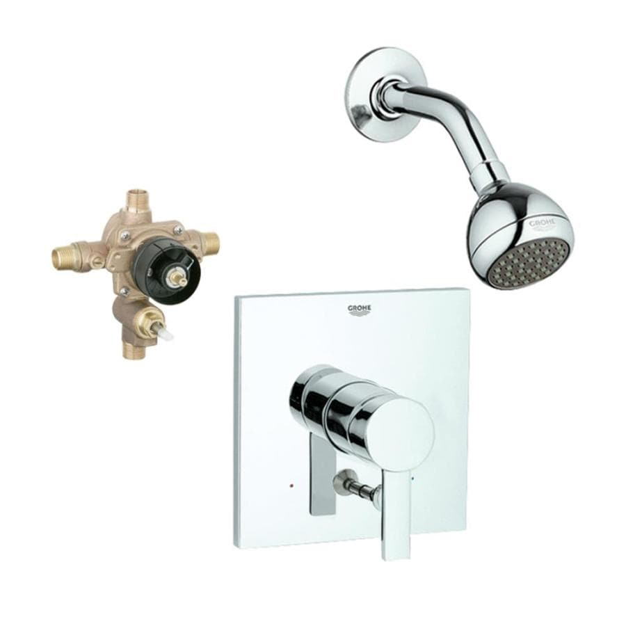 GROHE Allure Starlight Chrome 1-Handle Shower Faucet with Single Function Showerhead