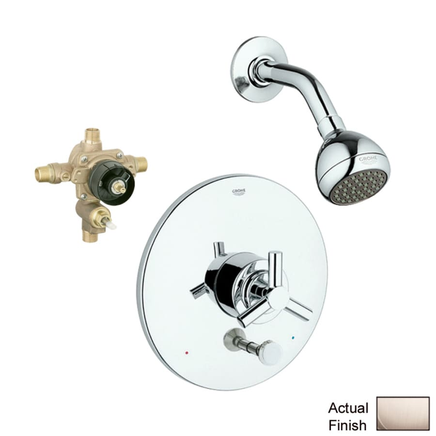GROHE Atrio Brushed Nickel 1-Handle Shower Faucet with Single Function Showerhead