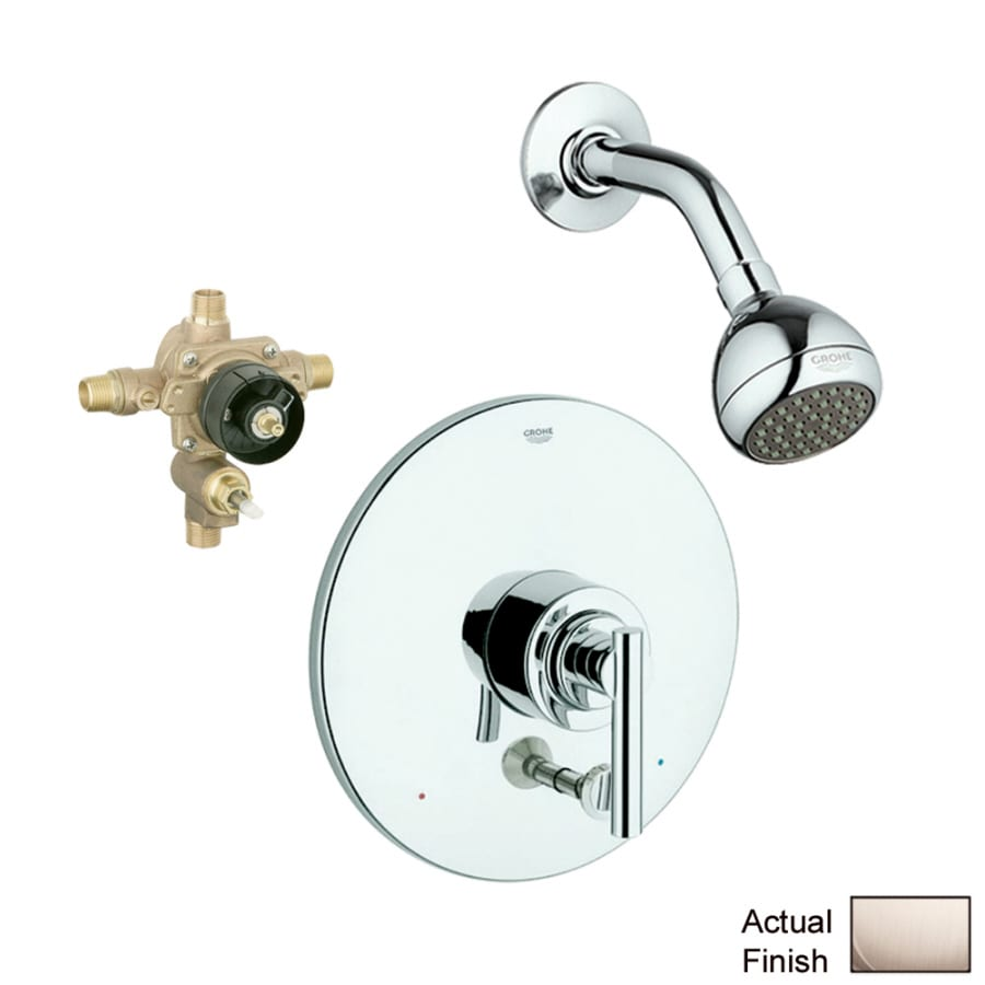 GROHE Tenso Brushed Nickel 1-Handle Shower Faucet with Single Function Showerhead