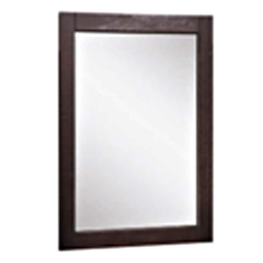 allen + roth 24-in H x 20-in W Contemporary Espresso Rectangular Bathroom Mirror