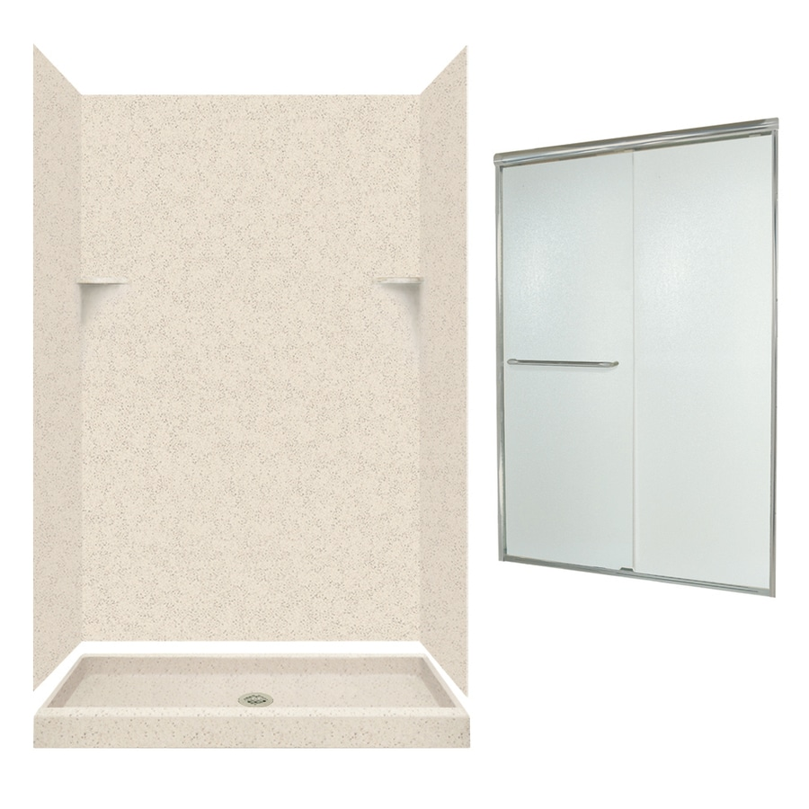 Swanstone Tahiti Desert Solid Surface Wall and Floor 5-Piece Alcove Shower Kit (Common: 48-in x 32-in; Actual: 72-in x 47-in x 31.125-in)