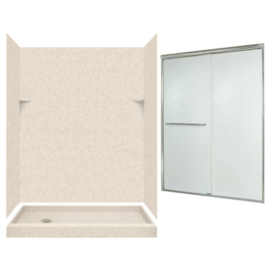 Swanstone Tahiti Desert Solid Surface Wall and Floor 5-Piece Alcove Shower Kit (Common: 60-in x 32-in; Actual: 72-in x 59-in x 31.125-in)