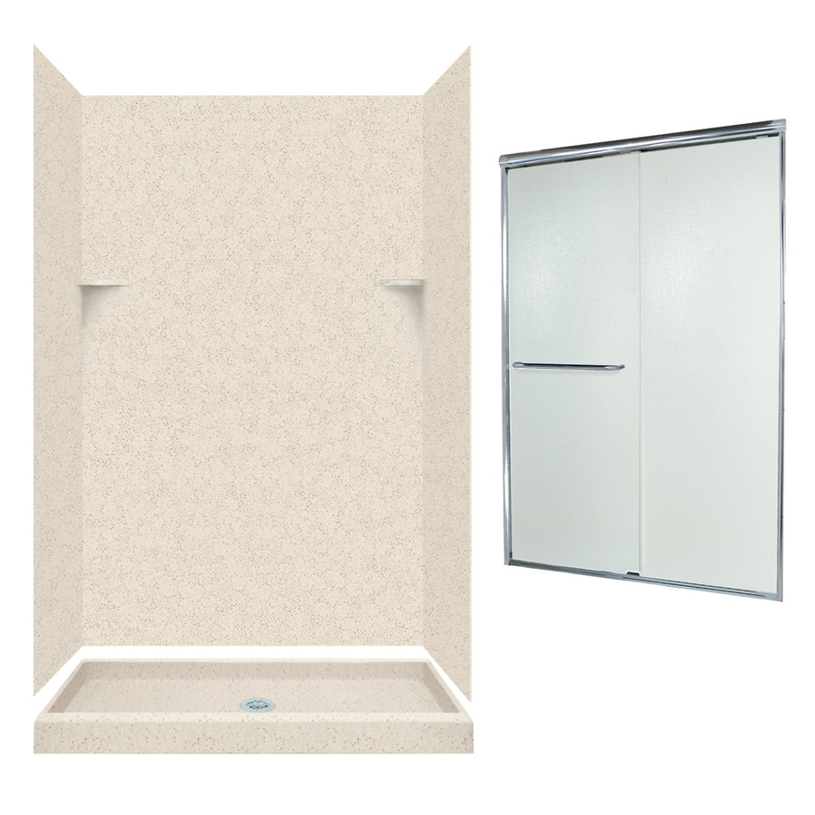 Swanstone Tahiti Desert Solid Surface Wall and Floor 5-Piece Alcove Shower Kit (Common: 48-in x 34-in; Actual: 72-in x 47-in x 33.125-in)