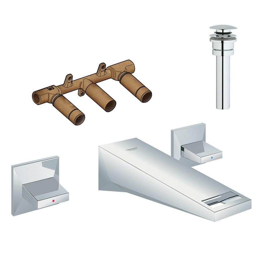 GROHE Allure Brilliant Starlight Chrome 2-Handle Widespread Bathroom Faucet (Drain Included)