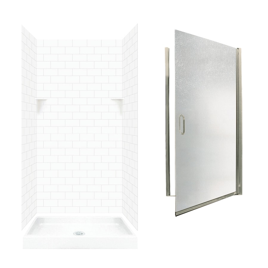 Shop Swanstone White Solid Surface Wall And Floor 5 Piece