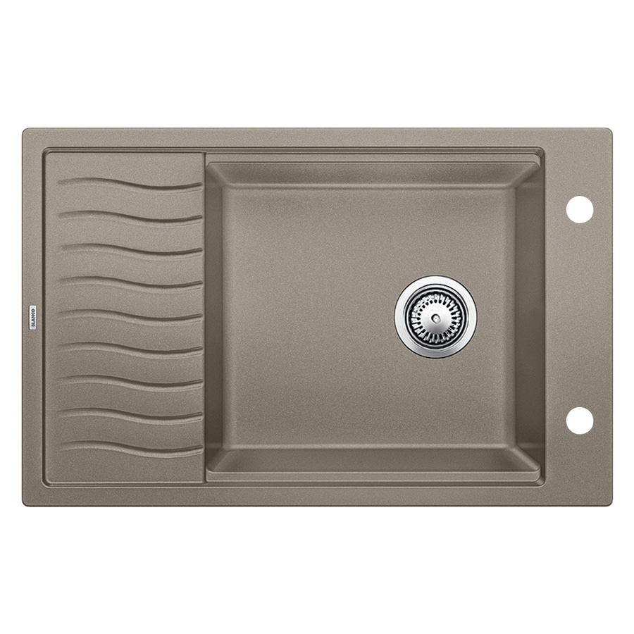 ... Drop-in or Undermount 2-Hole Residential Kitchen Sink with Drainboard