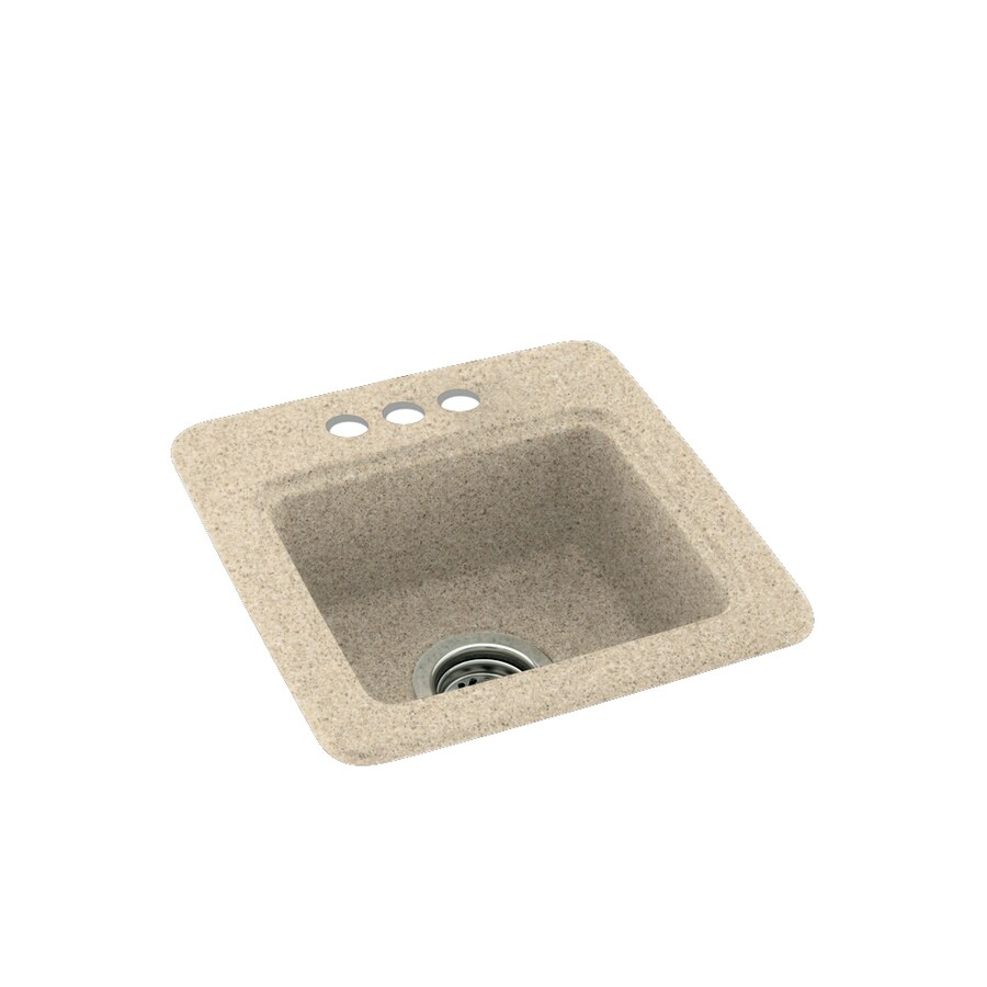 Swanstone Bermuda Sand Single-Basin 3-Hole Composite Drop-In Residential Bar Sink