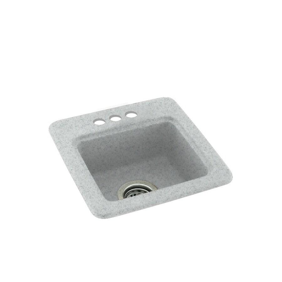 Swanstone Tahiti Gray Single-Basin 3-Hole Composite Drop-In Residential Bar Sink