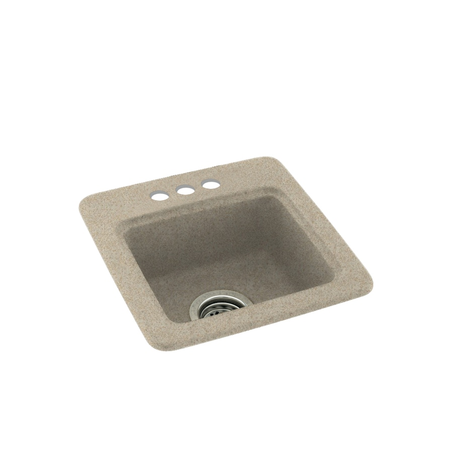 Swanstone Winter Wheat Single-Basin 3-Hole Composite Drop-In Residential Bar Sink