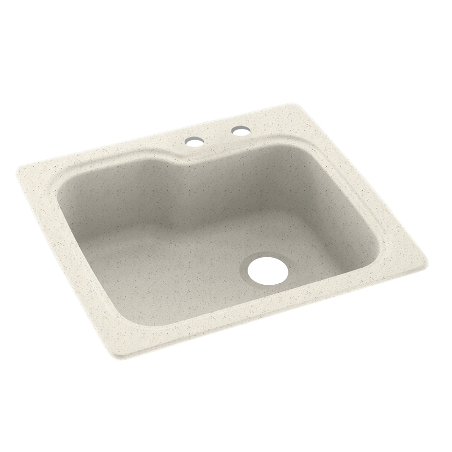 Swanstone 25-in x 22-in Tahiti Matrix Single-Basin Composite Drop-In 2-Hole Residential Kitchen Sink