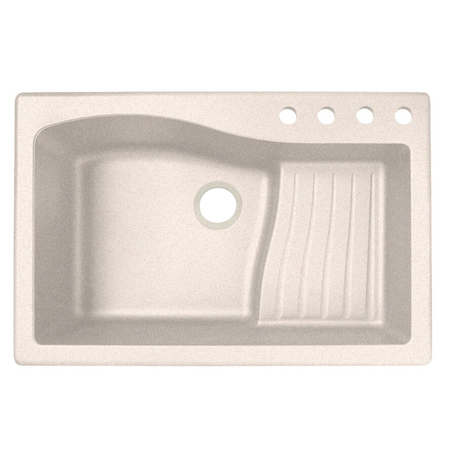 Undermount Kitchen Sink With Drainboard : ... -in or Undermount 4-Hole Residential Kitchen Sink Drainboard Included