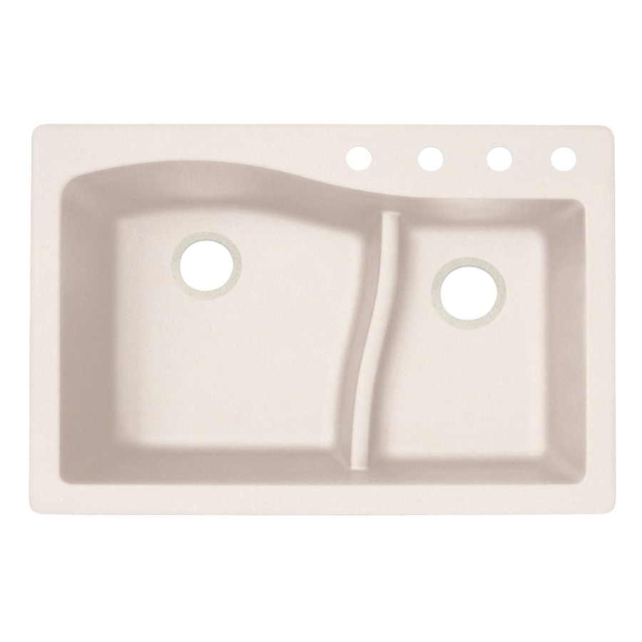 Shop swanstone 22 in x 33 in granito double basin granite for Swanstone undermount sinks