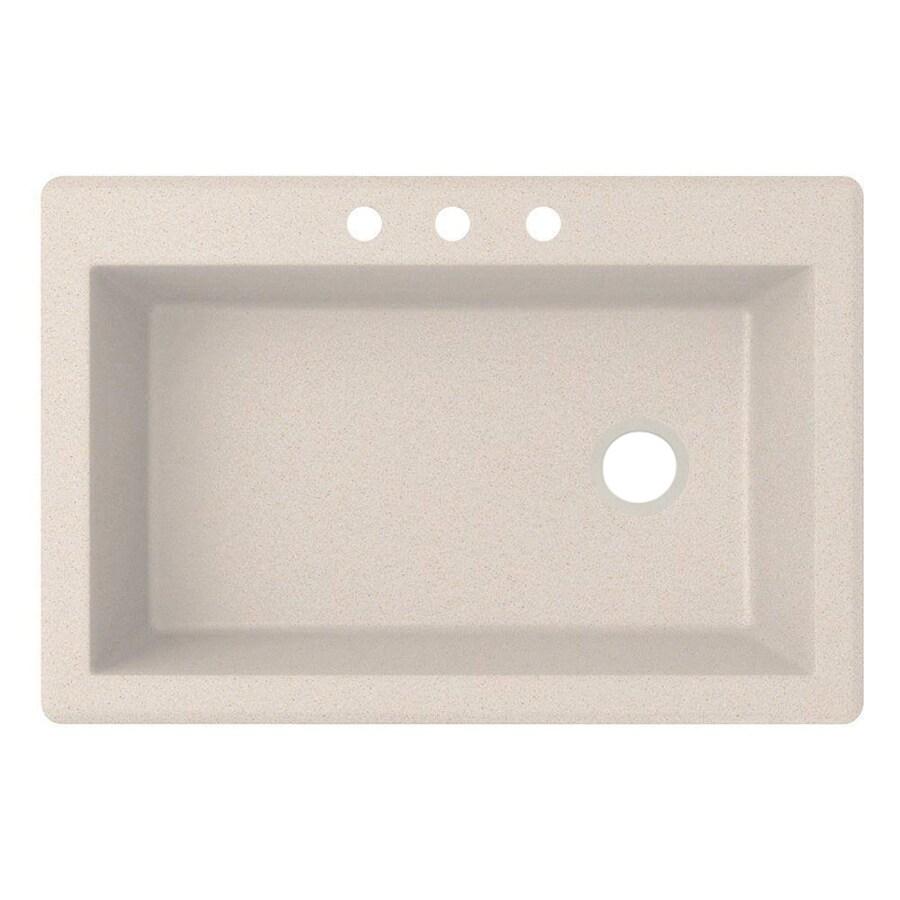 ... -Basin Granite Drop-In or Undermount 3-Hole Residential Kitchen Sink