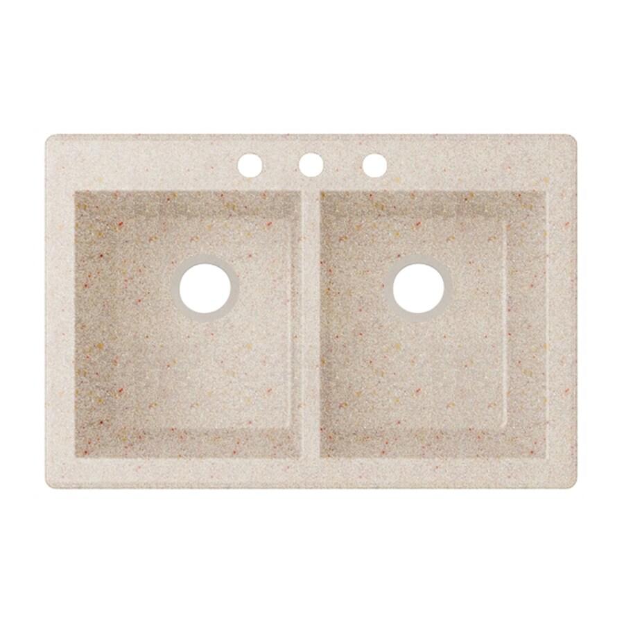 Shop Swanstone 22 In X 33 In Granito Double Basin Granite