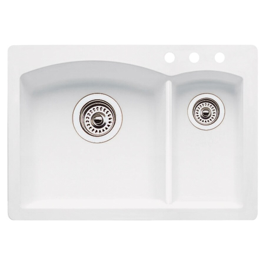 ... Double-Basin Drop-in or Undermount Composite Bar Sink at Lowes.com