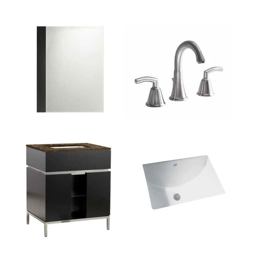 shop american standard 22 espresso studio bath vanity with top at