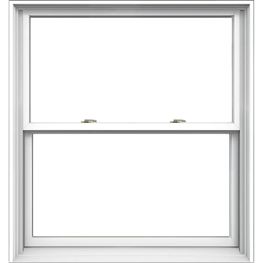 JELD-WEN Tradition Aluminum-Clad Double Pane Annealed Double Hung Window (Rough Opening: 38.125-in x 40.75-in; Actual: 37.375-in x 40-in)