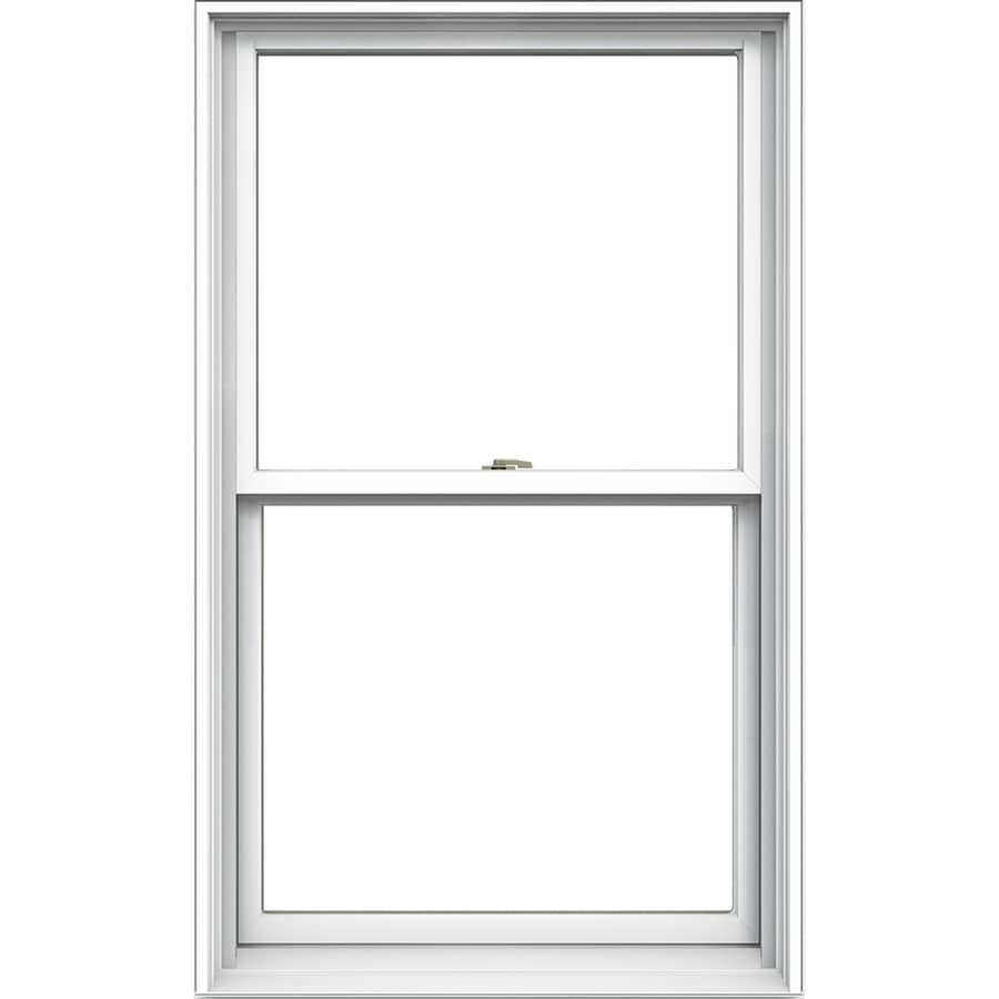 JELD-WEN Tradition Aluminum-Clad Double Pane Annealed New Construction Double Hung Window (Rough Opening: 30.125-in x 56.75-in Actual: 29.375-in x 56-in)