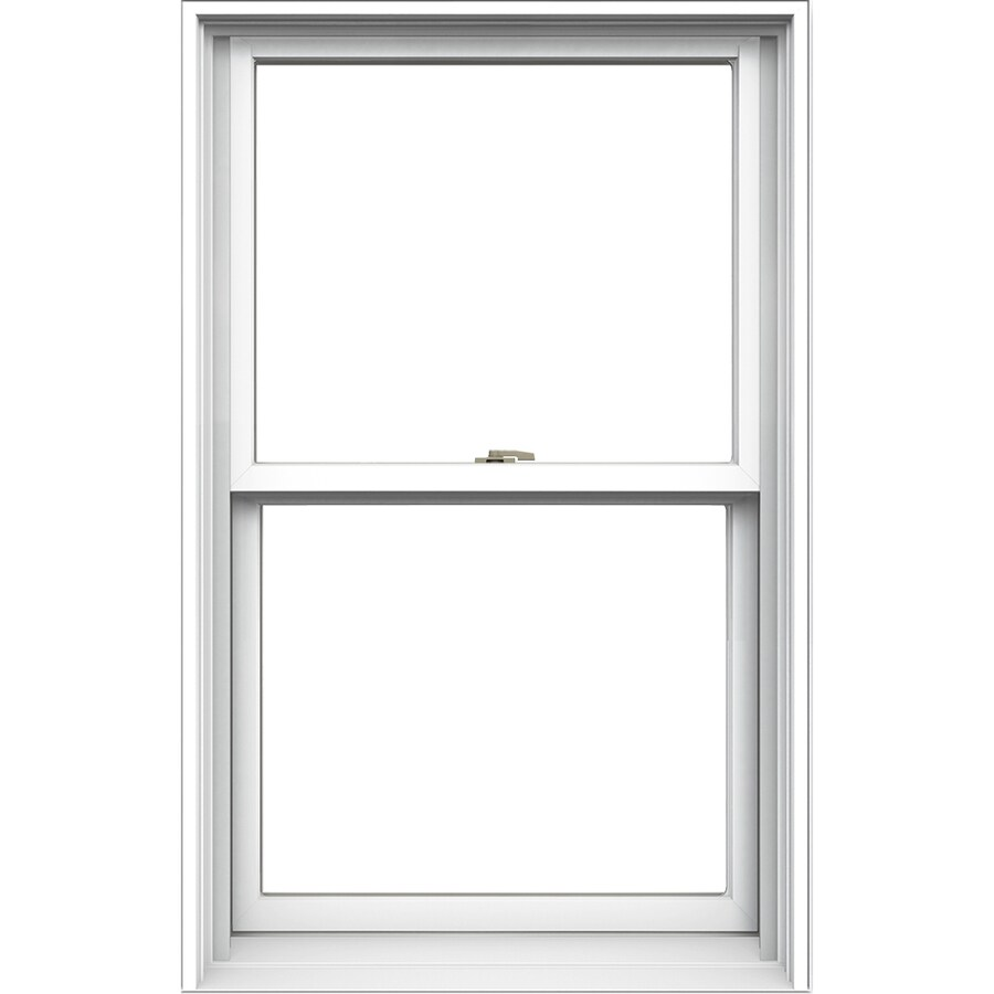 JELD-WEN Tradition Aluminum-Clad Double Pane Annealed Double Hung Window (Rough Opening: 30.125-in x 48.75-in; Actual: 29.375-in x 48-in)