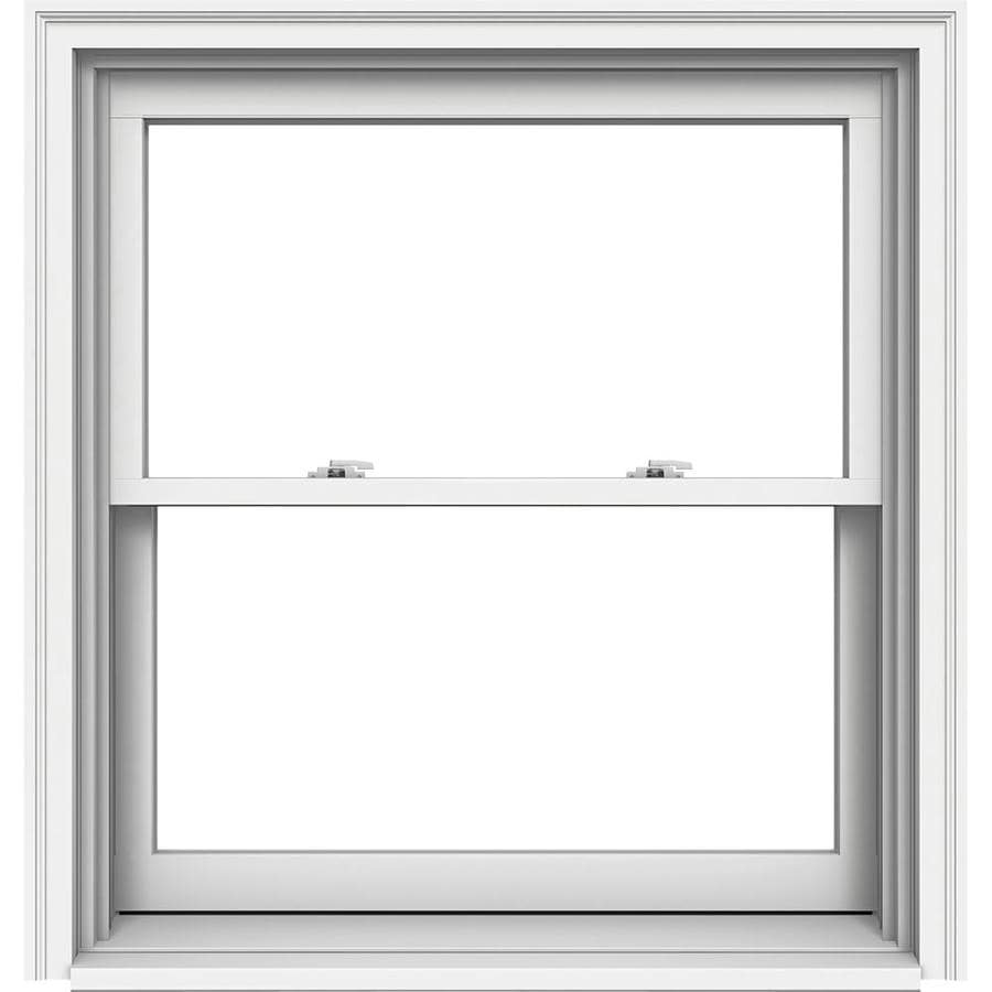JELD-WEN Premium Wood Double Pane Annealed Double Hung Window (Rough Opening: 38.125-in x 41.25-in; Actual: 37.375-in x 40.5-in)
