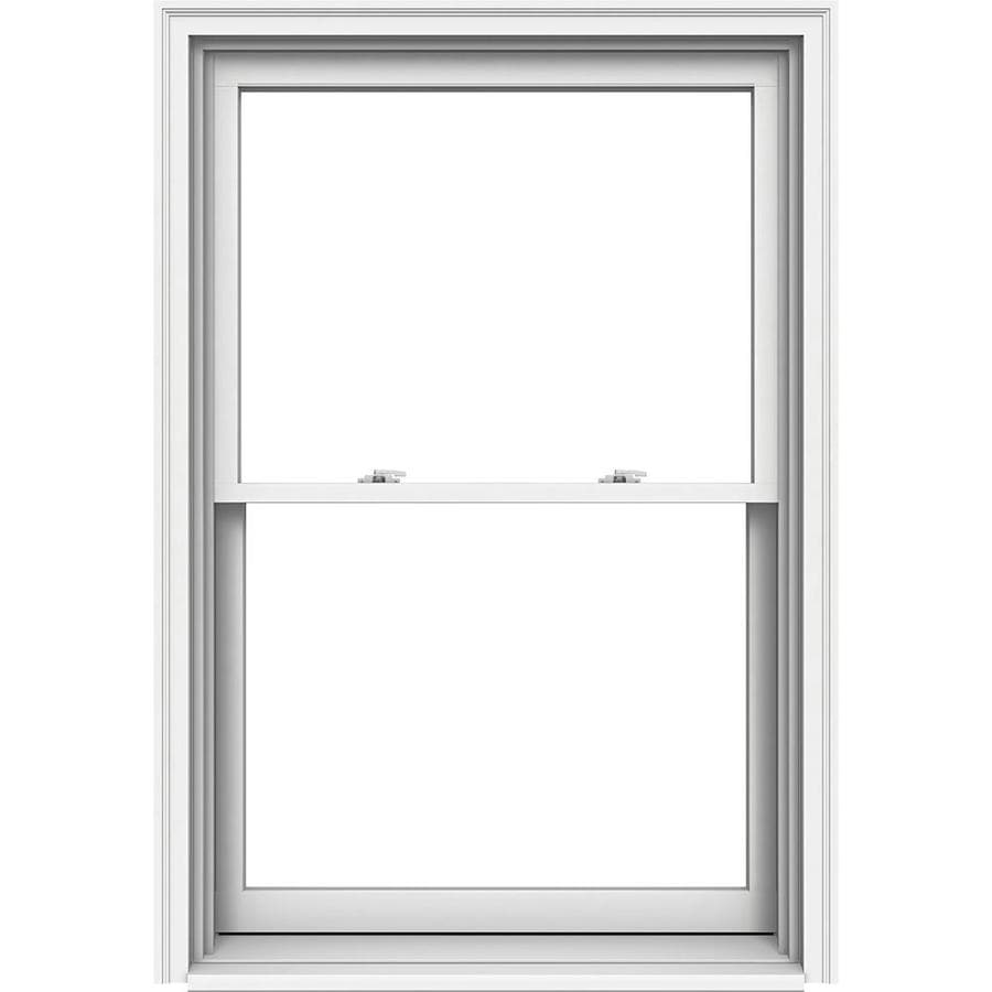 JELD-WEN Premium Wood Double Pane Annealed New Construction Egress Double Hung Window (Rough Opening: 38.125-in x 57.25-in Actual: 37.375-in x 56.5-in)