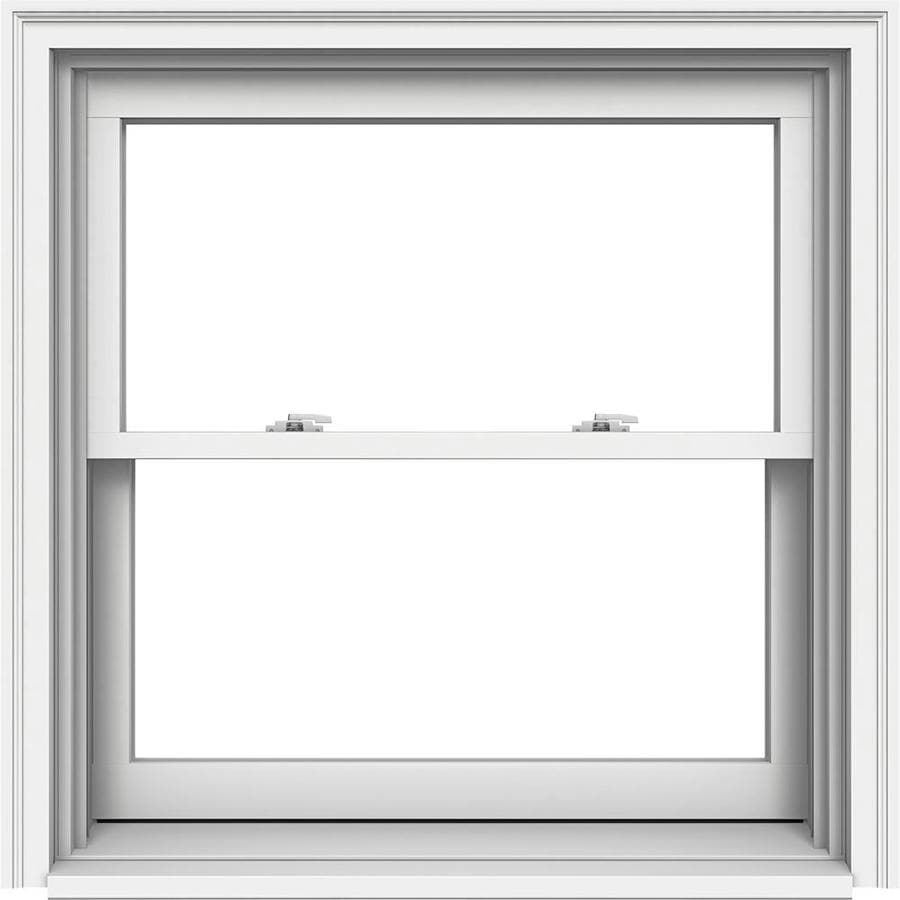JELD-WEN Premium Wood Double Pane Annealed Double Hung Window (Rough Opening: 36.125-in x 37.25-in; Actual: 35.375-in x 36.5-in)