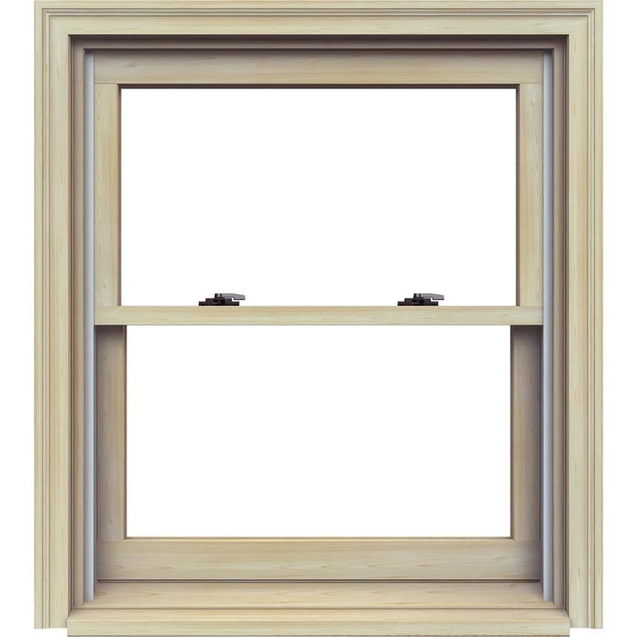 JELD-WEN Premium Wood Double Pane Annealed Double Hung Window (Rough Opening: 32.125-in x 37.25-in; Actual: 31.375-in x 36.5-in)