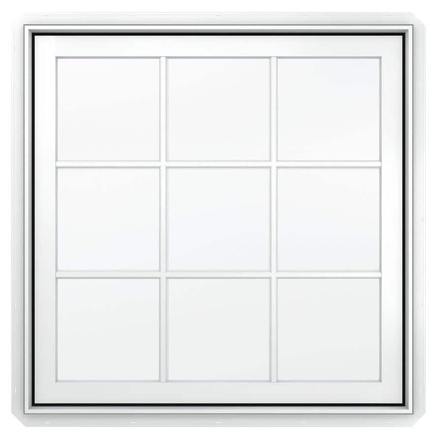 JELD-WEN Premium 1-Lite Aluminum-Clad Double Pane Annealed New Construction Egress Casement Window (Rough Opening: 30.75-in x 42.75-in Actual: 30-in x 42-in)