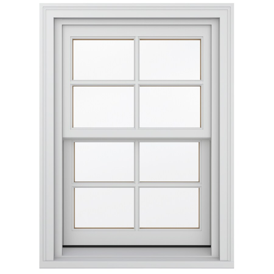 JELD-WEN Wood Double Pane Annealed Double Hung Window (Rough Opening: 26.13-in x 48.75-in; Actual: 25.38-in x 48-in)