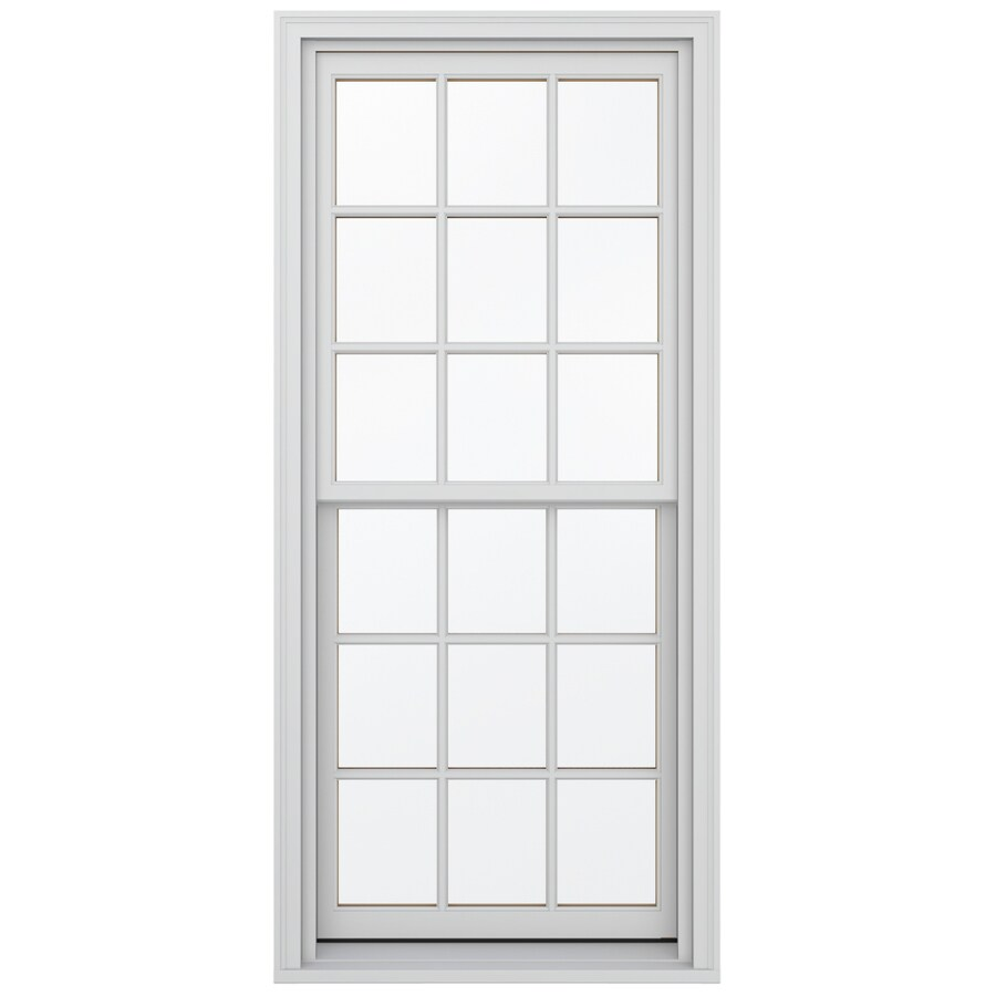 JELD-WEN Wood Double Pane Annealed Egress Double Hung Window (Rough Opening: 32.13-in x 72.75-in; Actual: 31.38-in x 72-in)