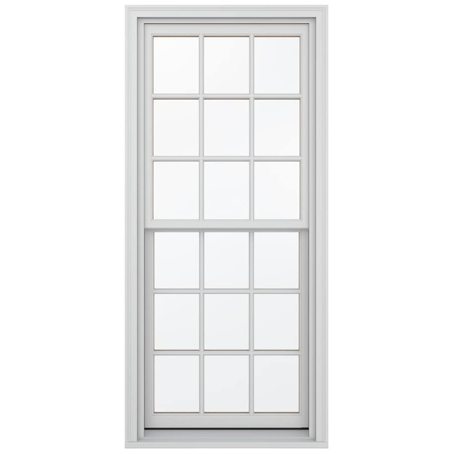 JELD-WEN Wood Double Pane Annealed Egress Double Hung Window (Rough Opening: 38.13-in x 72.75-in; Actual: 37.38-in x 72-in)