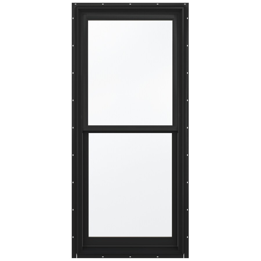 JELD-WEN Aluminum-Clad Double Pane Annealed Egress Double Hung Window (Rough Opening: 32.13-in x 72.75-in; Actual: 31.38-in x 72-in)