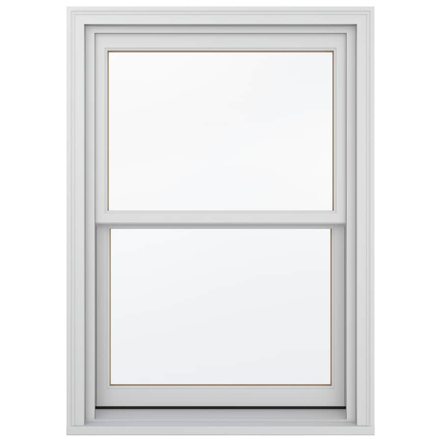 JELD-WEN Wood Double Pane Annealed Egress Double Hung Window (Rough Opening: 34.13-in x 56.75-in; Actual: 33.38-in x 56-in)