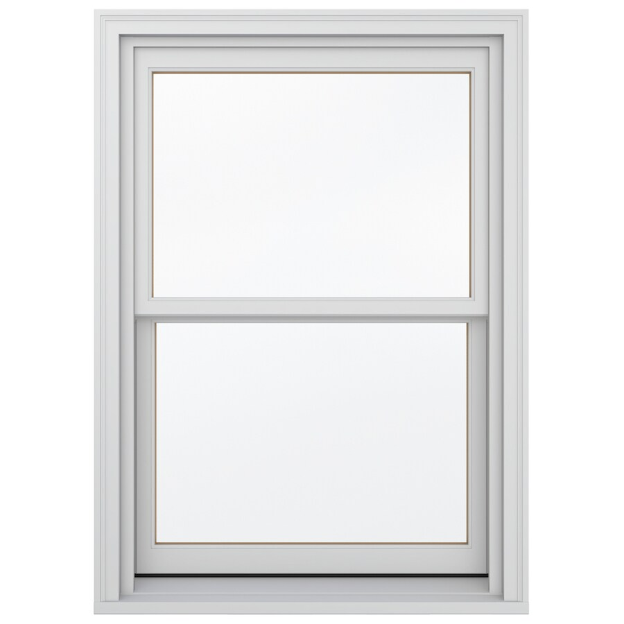 JELD-WEN Wood Double Pane Annealed Egress Double Hung Window (Rough Opening: 34.13-in x 64.75-in; Actual: 33.38-in x 64-in)