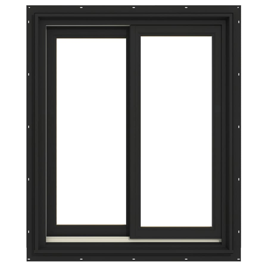 JELD-WEN Premium Both-Operable Aluminum-Clad Double Pane Annealed Sliding Window (Rough Opening: 36.063-in x 48.563-in; Actual: 35.313-in x 47.563-in)